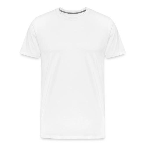 Skyfall wit logo - Mannen Premium T-shirt