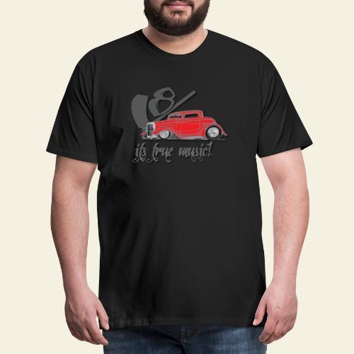 v8 true music - Herre premium T-shirt