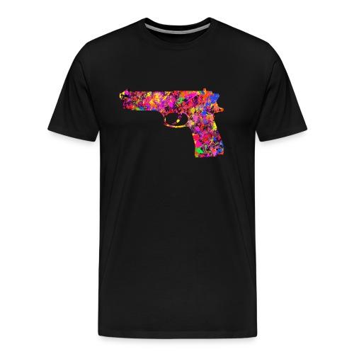 painted gun4 - Premium-T-shirt herr