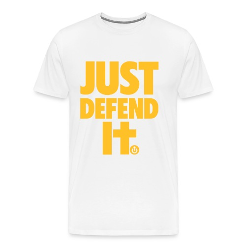 just defend it vect - Camiseta premium hombre