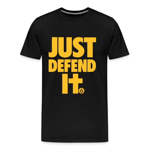just defend it vect - Camiseta premium hombre