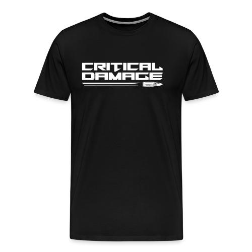 Critical Damage Tekst Logo - Mannen Premium T-shirt