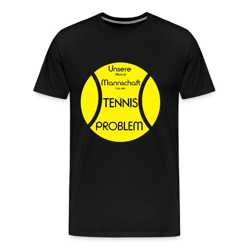 Tennisball-problem-2farb - Männer Premium T-Shirt