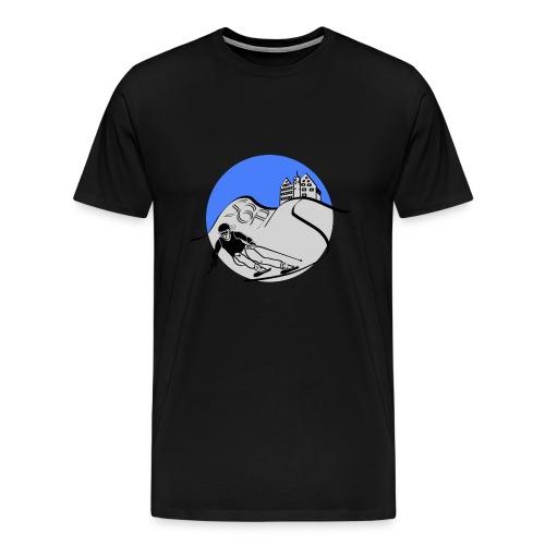 Skiing SGA Blau Silber - Männer Premium T-Shirt