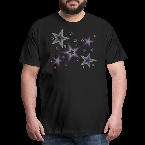 Disco Stars - Party und Open Air Festival Design - Männer Premium T-Shirt
