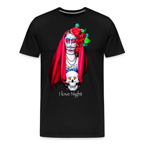 Catrina I love night - Camiseta premium hombre