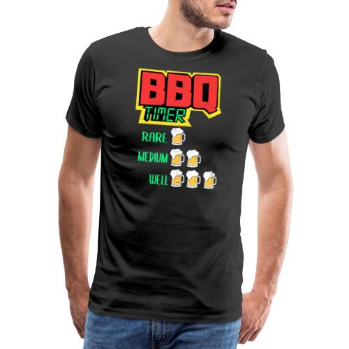 BBQ Timer BIER - Männer Premium T-Shirt