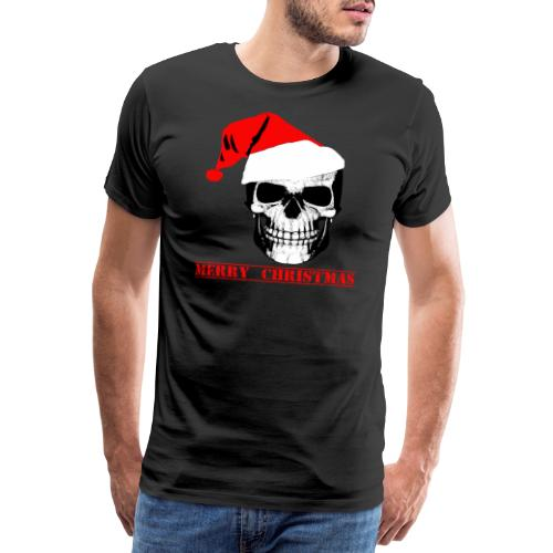 Nikolaus,Santa,Weihnachtsmann,Fun,Totenkopf,Spaß - Männer Premium T-Shirt