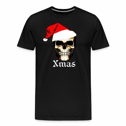 Totenkopf weihnachtsmann Santa, Nikolau,Party Fun - Männer Premium T-Shirt