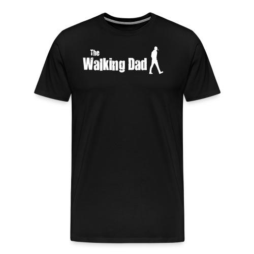 the walking dad white text on black - Men's Premium T-Shirt