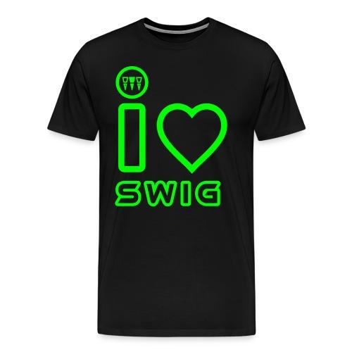 I LOVE SWIG - Maglietta Premium da uomo