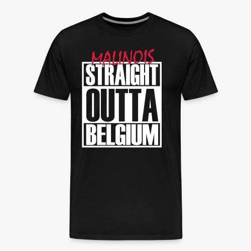 Straight Outta Belgium - Männer Premium T-Shirt