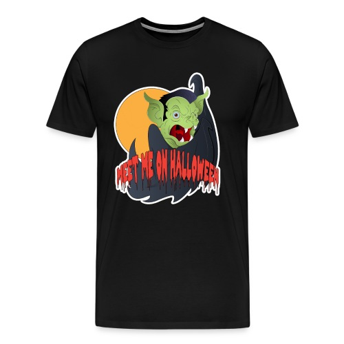 Meet me on Halloween White - Männer Premium T-Shirt