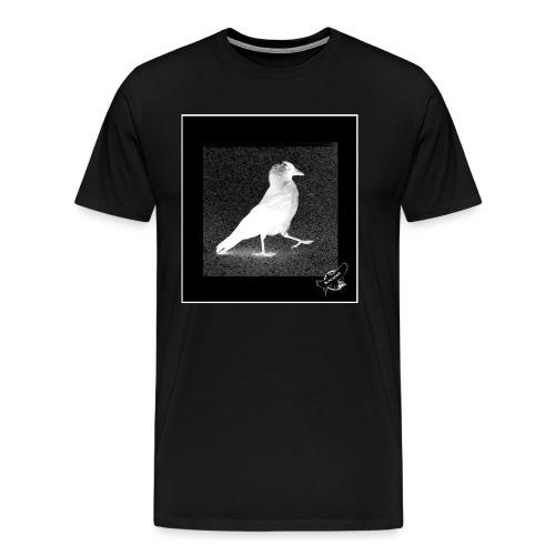 Cool Jackdaw by BlackenedMoonArts, w. logo - Herre premium T-shirt