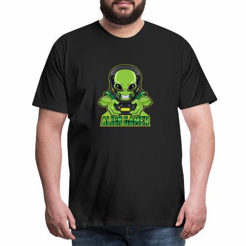 AlienGamer Testo - Maglietta Premium da uomo