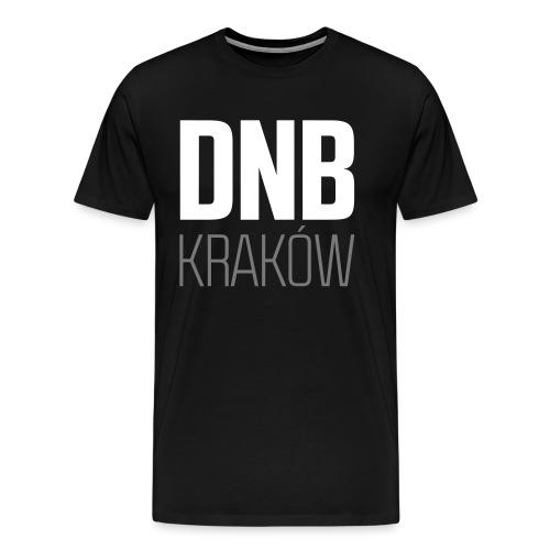 DNB KRAKÓW SQ BLACK - Koszulka męska Premium
