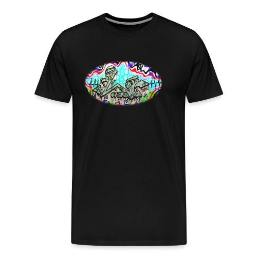 Across the Tracks Blur - Men's Premium T-Shirt