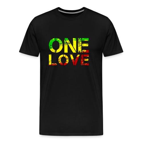 One Love - Reggea Musik - Männer Premium T-Shirt