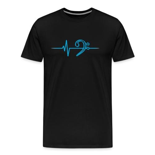 LowHeartBeatDouble cyan - Männer Premium T-Shirt