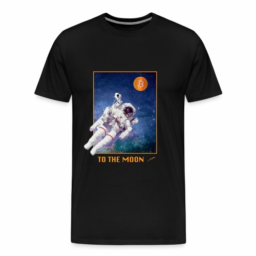 Bitcoin - To The Moon - Männer Premium T-Shirt