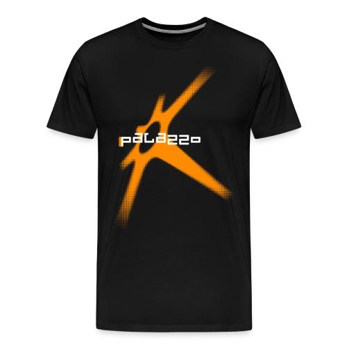 Palazzo Rotor auf schwarz/on black - Männer Premium T-Shirt