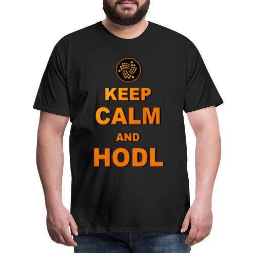 IOTA -keep calm and HODL - Männer Premium T-Shirt