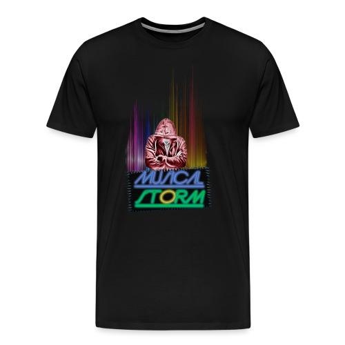 musical storm - Camiseta premium hombre