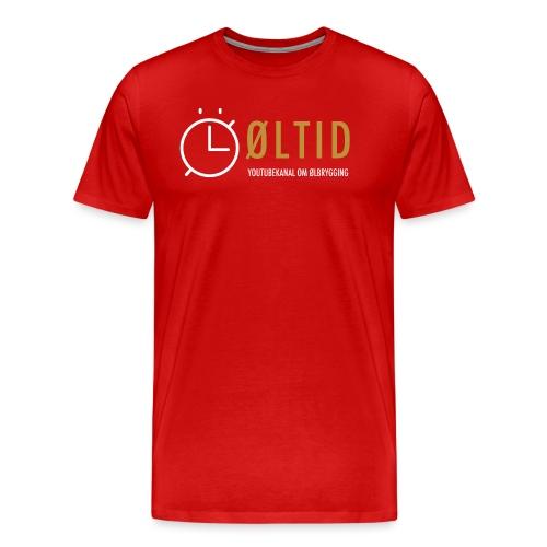 øltid side - Premium T-skjorte for menn