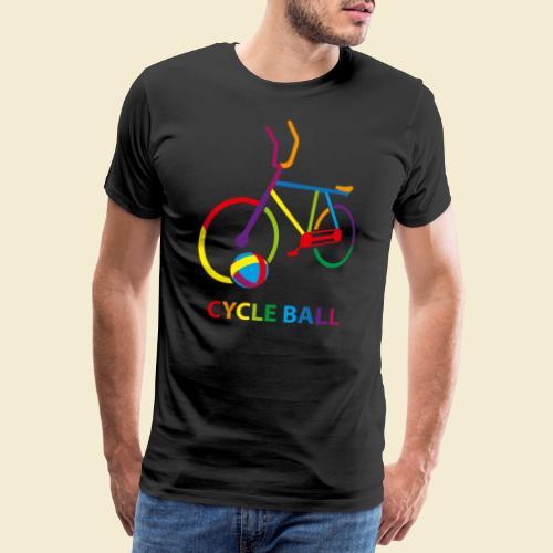 Radball   Cycle Ball Rainbow - Männer Premium T-Shirt