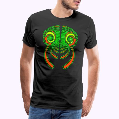 Fractal Dragon 3 color 2 - Camiseta premium hombre