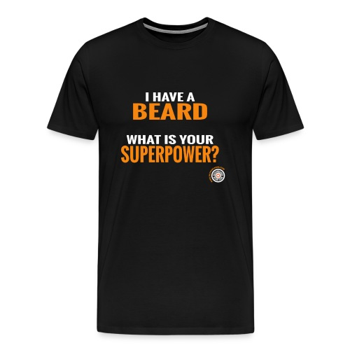 Beard Superpower - Mannen Premium T-shirt