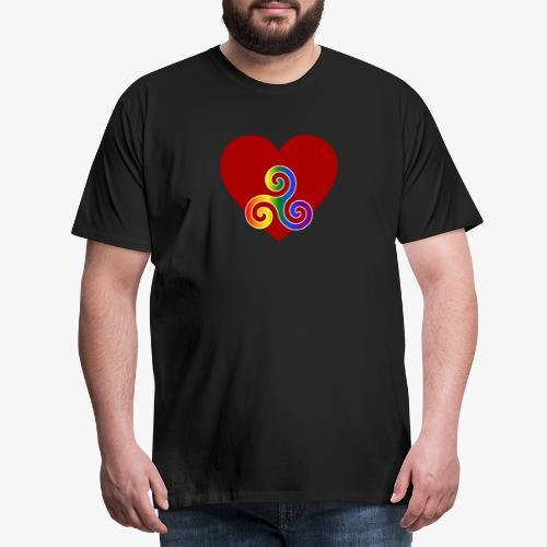 """""""BDSM mit Herz: Pride"""" – dunkle Textilien - Männer Premium T-Shirt"""