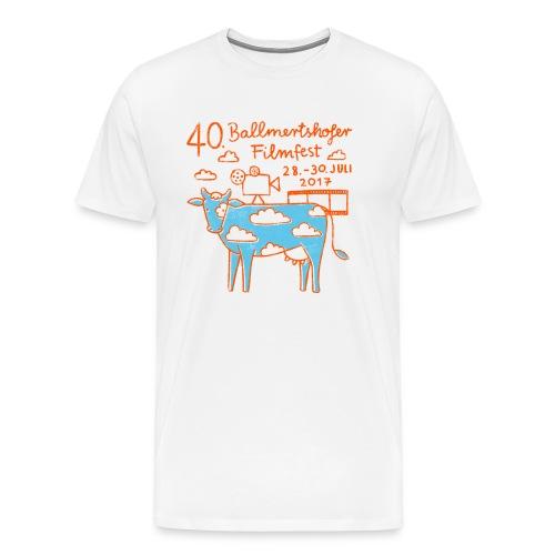 170415 B Filmfest Kuh rote Schrift png - Männer Premium T-Shirt