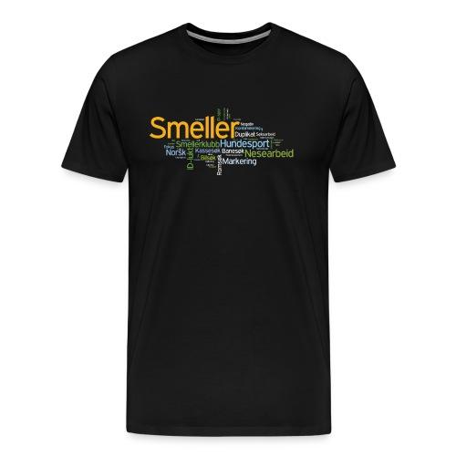 smeller skjorte variant 5 v001 png - Premium T-skjorte for menn