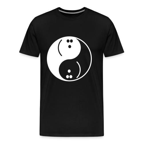 Bowling Yin-Yang - Men's Premium T-Shirt