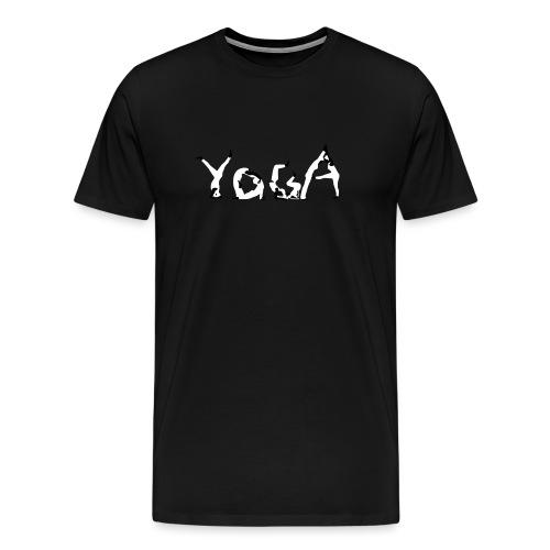 Yoga white - Männer Premium T-Shirt