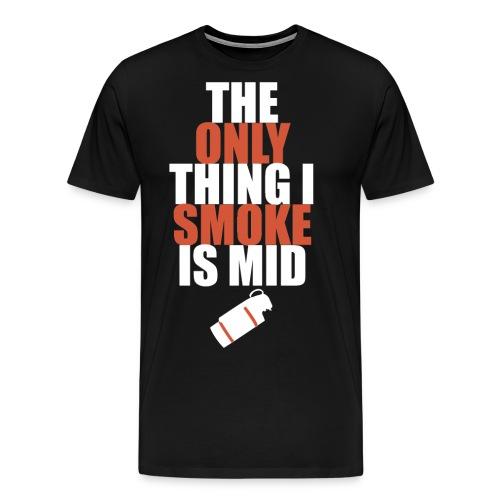 smokemid design red png - Men's Premium T-Shirt