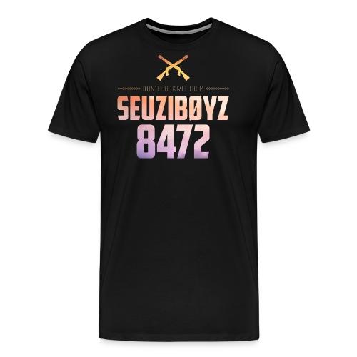 Seuziboyz Gelb Violett - Männer Premium T-Shirt