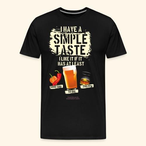 Whiskey Chili Craft Beer SHU IBU PPM - Männer Premium T-Shirt