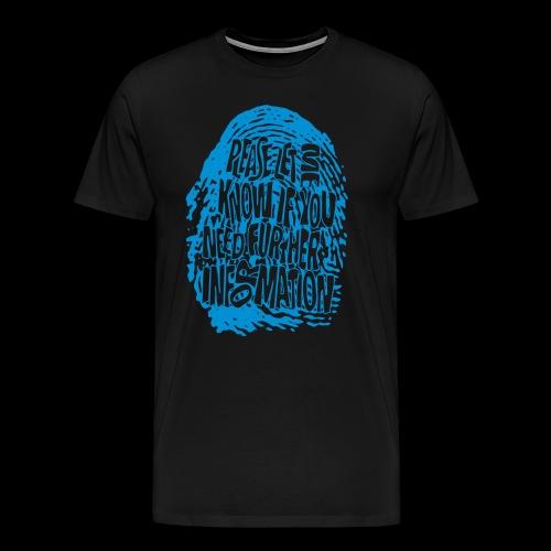 DNA, odcisków palców (niebieski) - Koszulka męska Premium