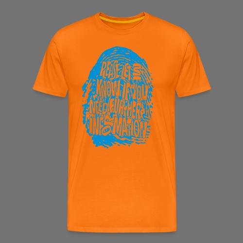 Fingerprint DNA (blue) - Männer Premium T-Shirt