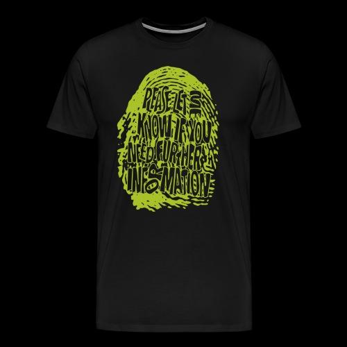 DNA, odcisków palców (zielony) - Koszulka męska Premium