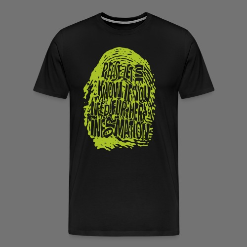 Fingerprint DNA (green) - Men's Premium T-Shirt