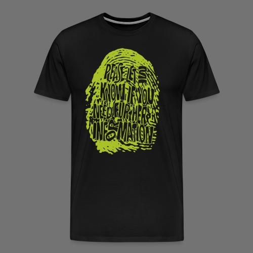 Fingerprint DNA (grøn) - Herre premium T-shirt