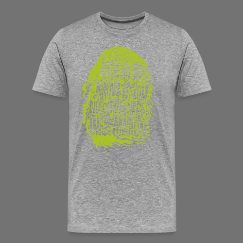 Fingerprint DNA (green) - Männer Premium T-Shirt
