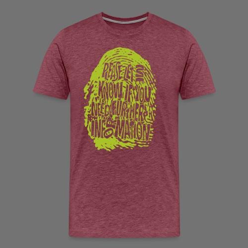 Fingerprint DNA (green) - Männer Premium T-Shirt