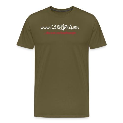 Carparea Logo (Fisch Umrisse) - Männer Premium T-Shirt