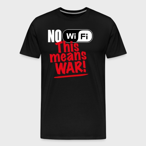 No WiFi - Premium T-skjorte for menn