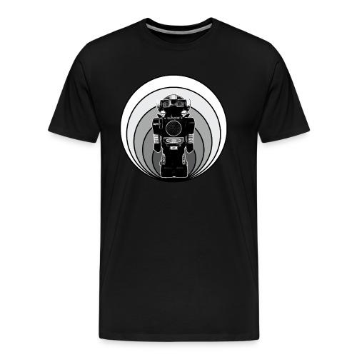 Cooles 80er Retro Roboter T-Shirt Scifi Geschenk - Männer Premium T-Shirt