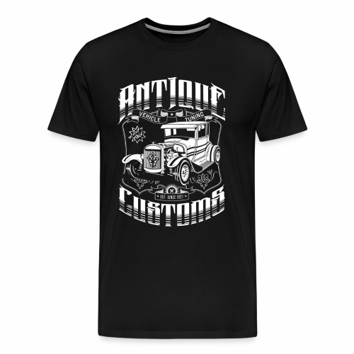 Hot Rod - Antique Customs (white) - Men's Premium T-Shirt